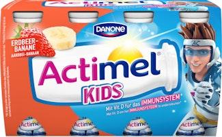 Yogourt à boire Fraise-Banane Actimel Kids Danone