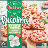 Mini-pizzas Piccolinis tomate et mozzarella Buitoni