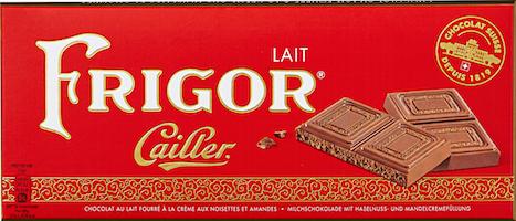Tavoletta di cioccolato Cailler Frigor