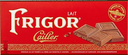 Tablette de chocolat Cailler Frigor