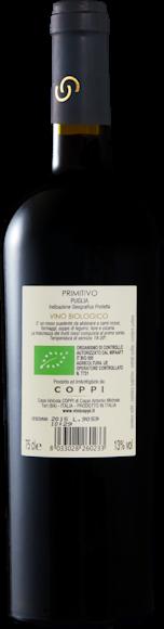 Cantonovo Primitivo bio Puglia IGP Arrière