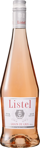Listel Grain de Gris Rosé Terres du Midi IGP De face