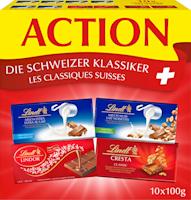 Tavolette di cioccolato classico svizzero Lindt
