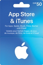 Carta regalo iTunes per un valore di CHF 50.–