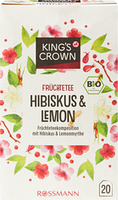 KingSC Tisane aux fruits bio hibiscus-citron
