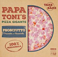 Pizza gigante Prosciutto e Mozzarella Papa Toni's