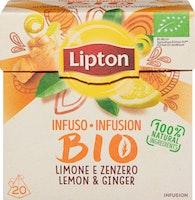 Lipton Bio Tee Zitrone & Ingwer