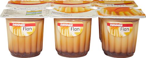 Flan vanille avec sauce caramel Denner