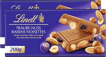 Tavoletta di cioccolata Uvetta-Nocciole Lindt