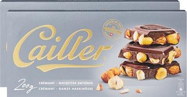 Tablette de chocolat Crémant Cailler