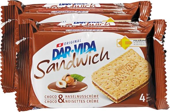Sandwich Cioccolato & Crema di nocciole Dar-Vida Hug