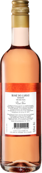 Rosé de Gamay Romand AOC Zurück