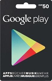 Google Play-Geschenkkarte im Wert von CHF 50.–