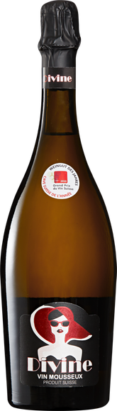 Divine Vin mousseux Suisse extra dry Vorderseite