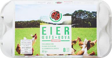Uova svizzere da allevamento all'aperto IP-SUISSE