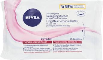 Lingettes démaquillantes de soin 3en1 Nivea