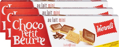 Biscuits Choco Petit Beurre Lait mini Wernli