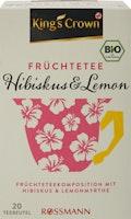 KingSC Bio Früchtetee Hibiskus-Lemon