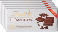 Tablettes de chocolat crémant Lindt