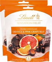 Chocolat noir Orange & Pamplemousse rose Lindt Sensation Fruit