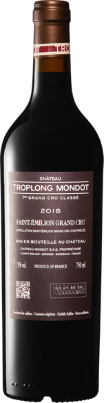 Château Troplong Mondot Saint-Emilion AOC 1er Grand Cru classé