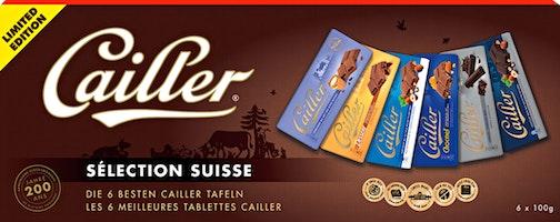 Tavolette di cioccolato Sélection Suisse Cailler