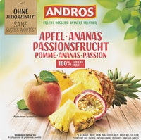 Andros Fruchtdessert Apfel & Ananas & Passionsfrucht
