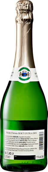 Monte Christo Vin mousseux extra dry Arrière