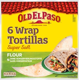 Tortilla wraps di grano intero Old El Paso
