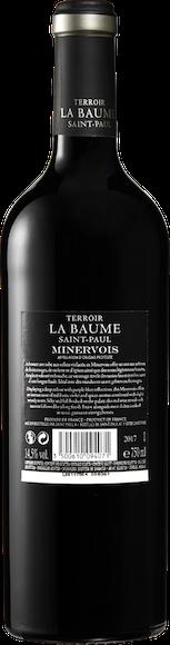 Terroir La Baume Saint-Paul Minervois AOP  Arrière