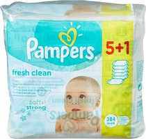 Pampers Lingettes Fresh Clean