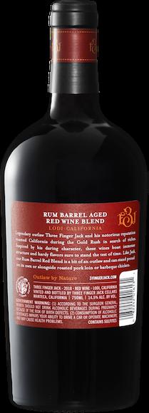 Three Finger Jack Rum Barrel Red Blend Lodi Zurück