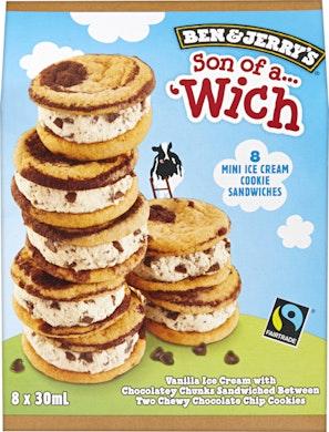 Ben & Jerry's Mini Ice Cream Cookie Sandwiches