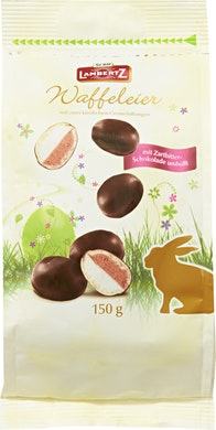 Ovetti di wafer ricoperti di cioccolato Lambertz
