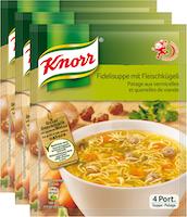 Minestra con capellini e polpettine Knorr