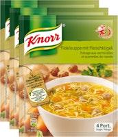 Potage aux vermicelles et quenelles de viande Knorr