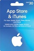 iTunes-Geschenkkarte im Wert von CHF 30.–