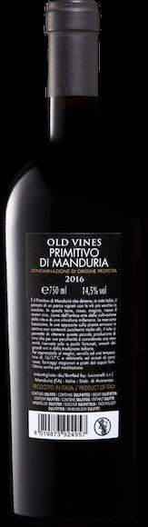 Luccarelli Old Vines Primitivo di Manduria DOP Zurück
