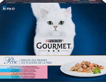 Gourmet Perle Katzenfutter Genuss des Meeres 8x85