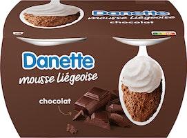 Mousse liégeoise Chocolat Danette Danone