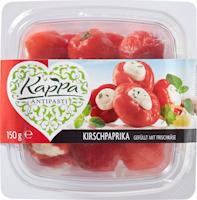 Peperoni ciliegia ripieni di formaggio fresco Kappa