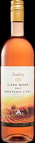 Zonneberg Cape Rosé De face