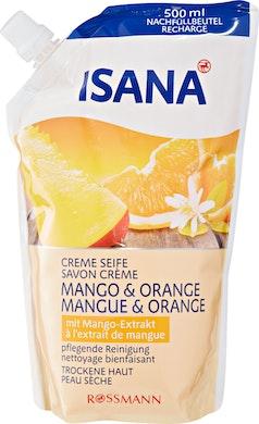 Isana Crèmeseife Mango + Orange