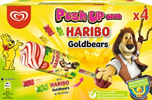 Gelato Push up with Haribo Lusso