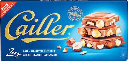 Tavoletta di cioccolato al latte Cailler