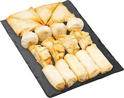 Plat de snacks asiatiques