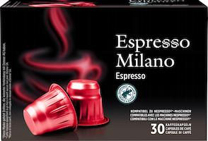 Capsule di caffè Espresso Milano Denner