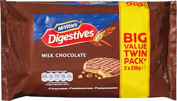 Biscotti Milk Chocolate McVitie's Digestive