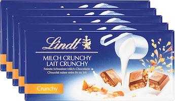 Tablette de chocolat Lait Crunchy Lindt