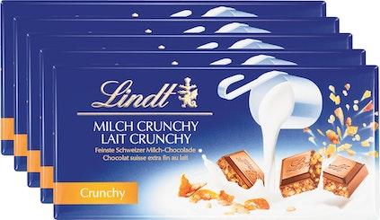 Lindt Tafelschokolade Milch Crunchy
